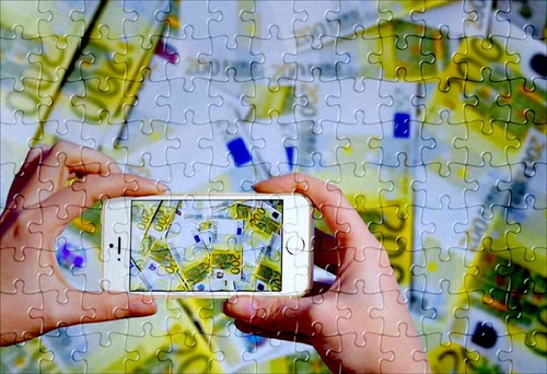 Puzzle Money Euros iPhone